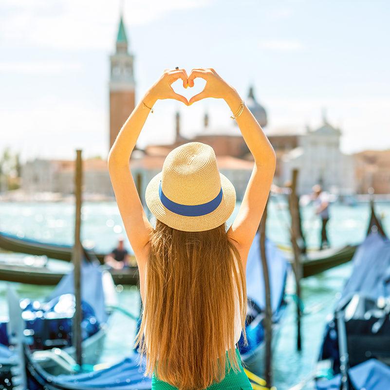 Junge Frau in Venedig - Insidertipps Venedig