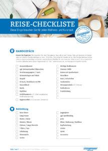 Checklisten allgemein Reisen